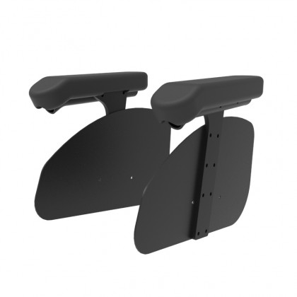 Non-removable armrests with PU coating