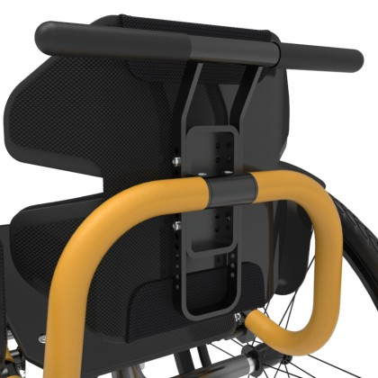 Adjustable push handles - black matte painted aluminum